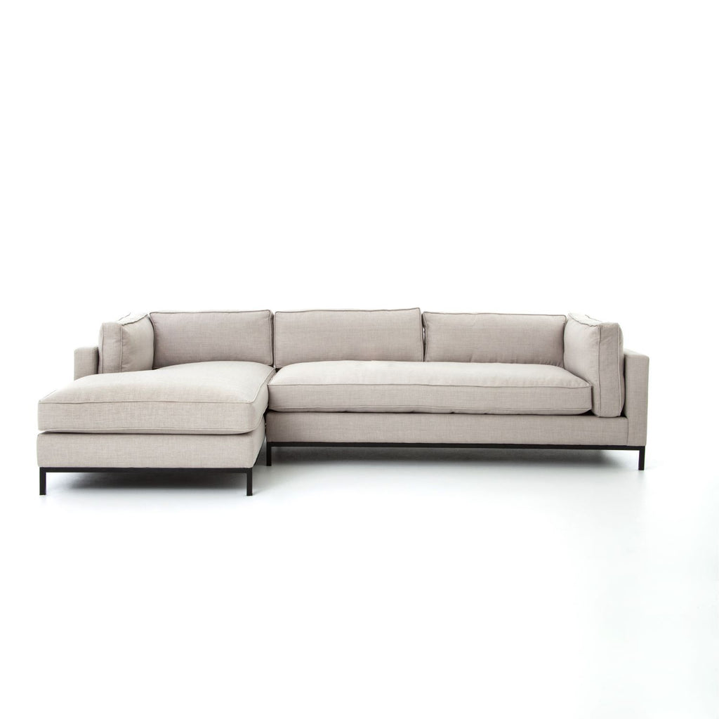 GRAHAM MOON 2PC LEFT CHAISE SECTIONAL-Sectionals-Bridget's Room