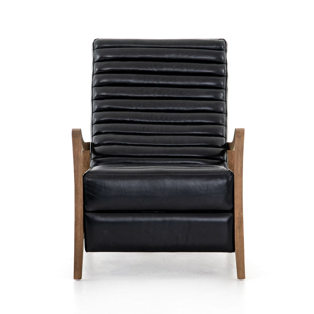 JONATHAN BLK DAKOTA LEATHER RECLINER-Occasional Chairs-Bridget's Room