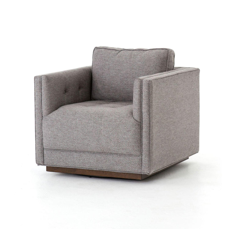 KERRIE STONE PATTERN SWIVEL CHAIR-Occasional Chairs-Bridget's Room