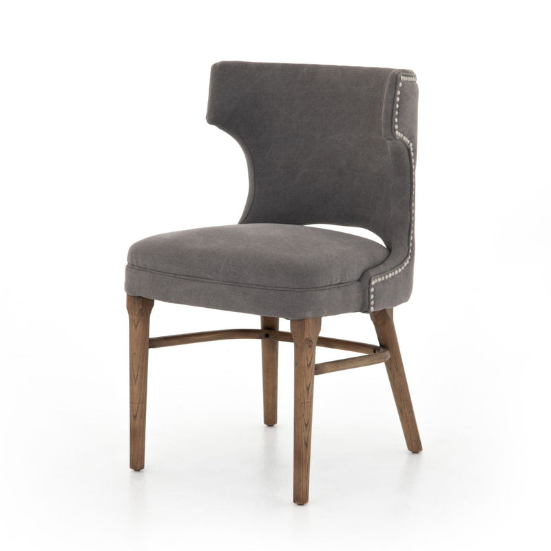 LINDELL MOON CANVAS CHAIR-Dining Chairs-Bridget's Room