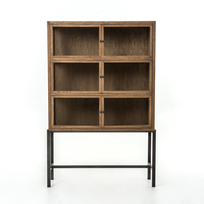 LYDIA CURIO CABINET NATURAL-Bookcases & Shelving-Bridget's Room