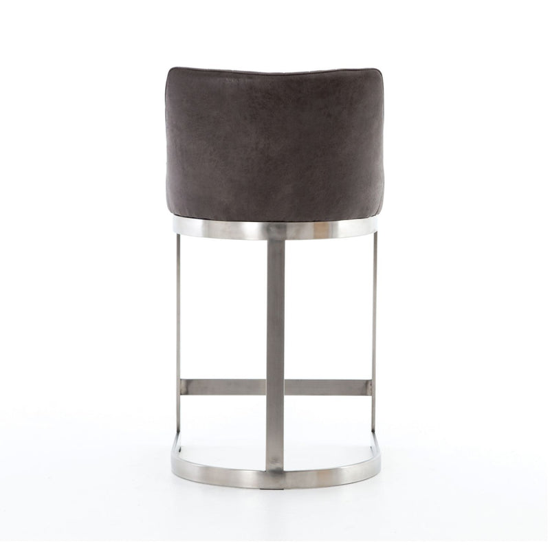 REGGIE GRAPHITE BAR STOOL-Bar & Counter Stools-Bridget's Room
