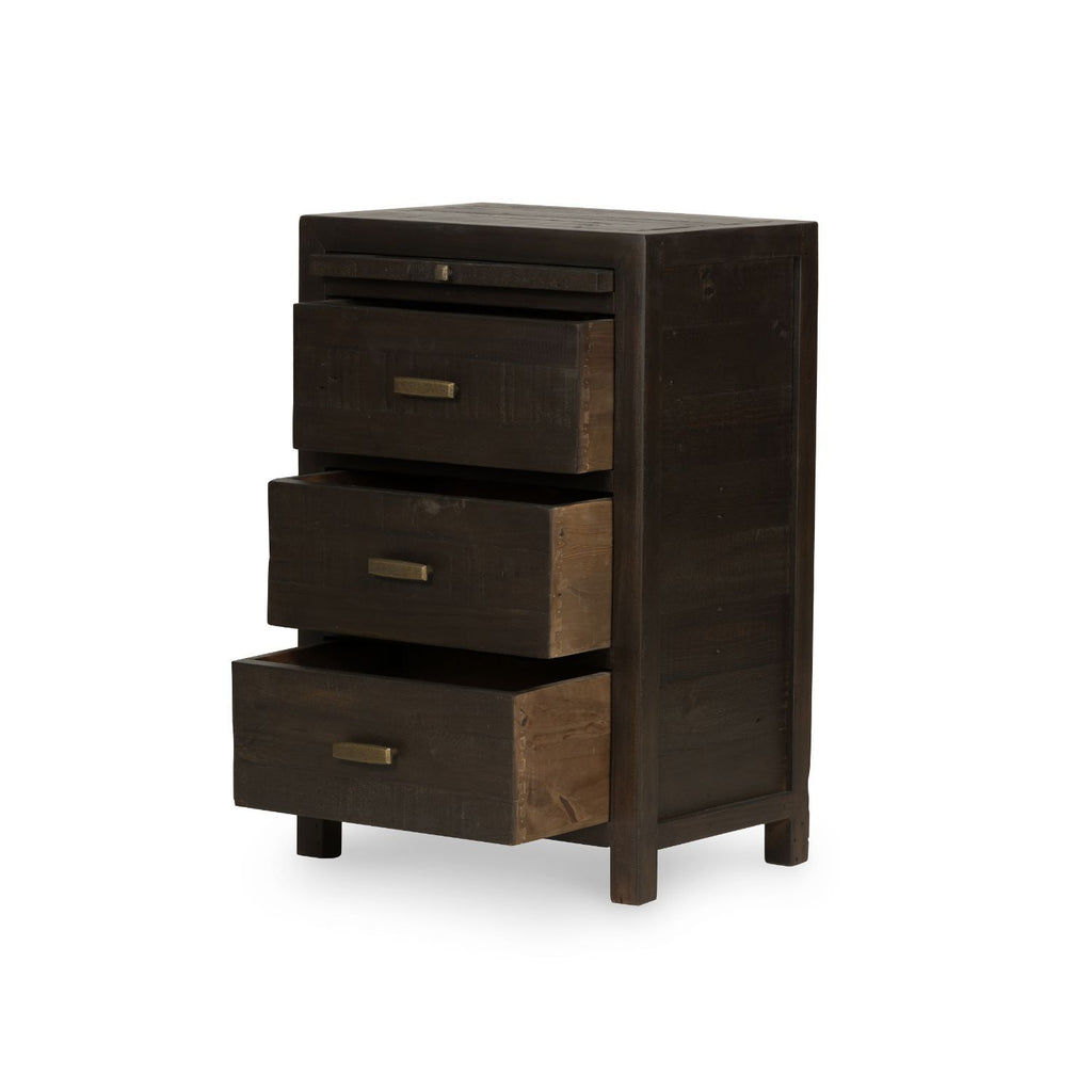 STANFORD CARBON NIGHTSTAND-Nightstands-Bridget's Room