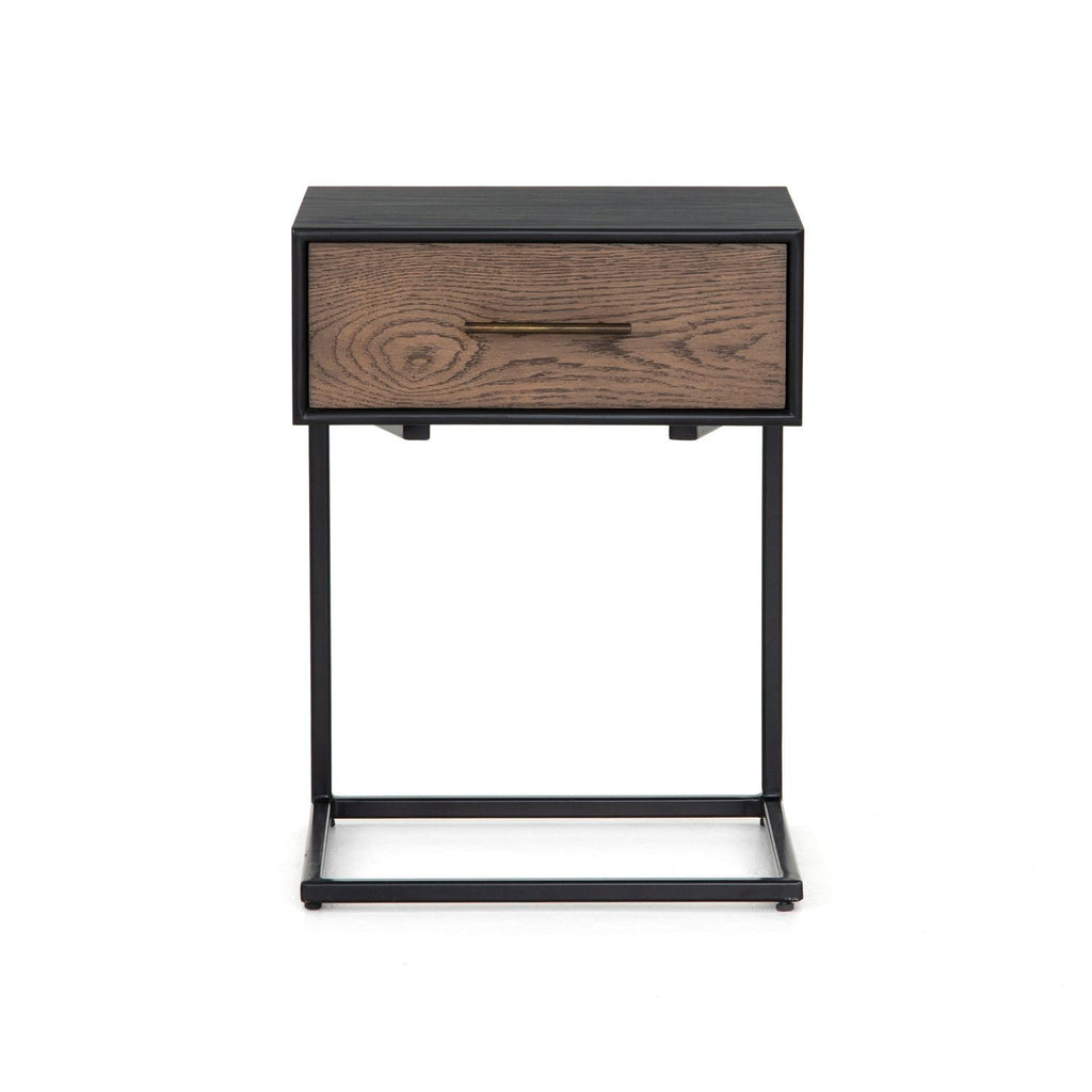 VICTOR SINGLE DRAWER NIGHTSTAND-Nightstands-Bridget's Room
