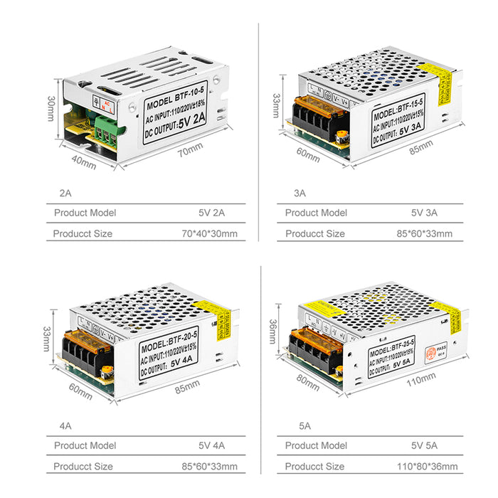 DC5V Switch LED Power Supply Transformers