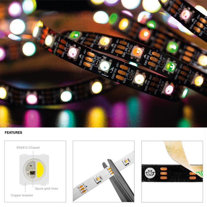 SK6812 RGBW 4 in 1 Pixels Individual Addressable Led Strip DC5V