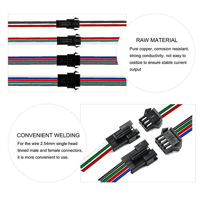 2pin/3pin/4pin/5pin SM JST LED Connector