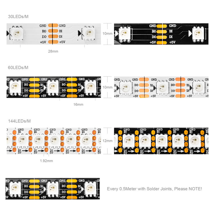 WS2813 DC5V Led Pixel Strip Dual-signal