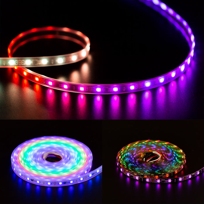 WS2811 LED Pixels Strip 30/48/60/96/144leds/m Addressable DC12V