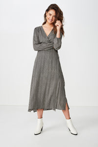 Woven Ivy Sleeved Maxi Dress - 50% OFF