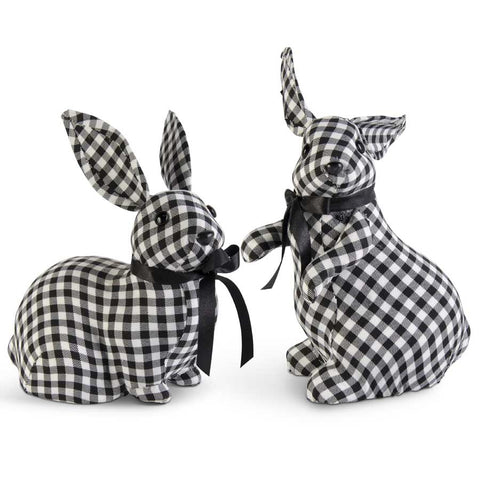 Black & White Gingham Assorted size Bunnies