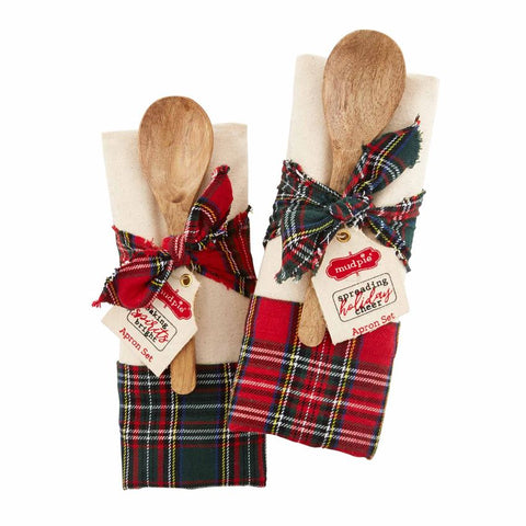 Christmas Apron & Spoon Set
