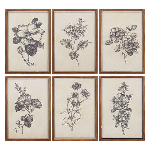 Neutral Floral Wall Art