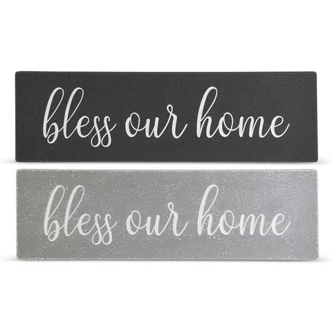 Bless Our Home Wood Signs