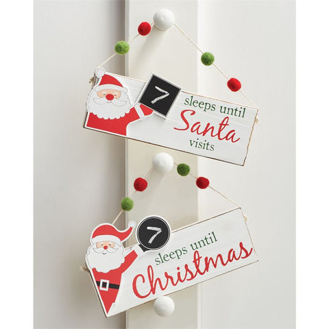 Christmas Countdown Door Hanger
