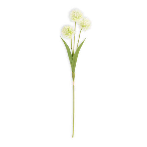 White/Green Flower Ball Stem