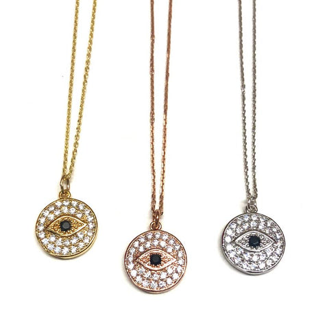Evil Eye Shimmering Necklace