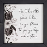 For I Know the Plans Sign