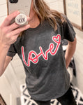 Love With Neon Lettering T-Shirt