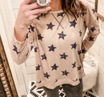 Star Printed Long Sleeve
