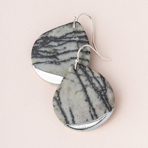 Stone Dipped Teardrop Earrings