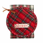 Tartan Plaid Pot Holder with Towel (2 styles)