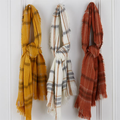 Brushed Plaid Scarves (multiple colors)