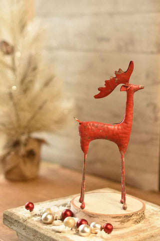 Red Metal Reindeer (2 sizes)
