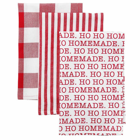 Set of 3 Christmas Kitchen Towels