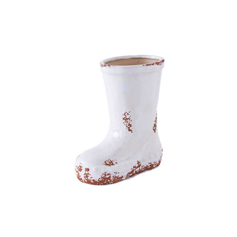White Ceramic Boot