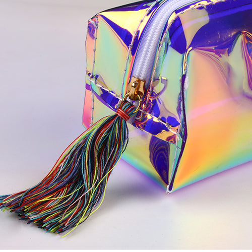 Rainbow Holographic Makeup Bag