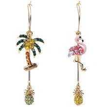 Exotic Flamingo Crystal Earrings