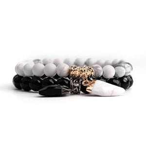 Howlite Stone Distance Bracelets - Go Glam Accessories