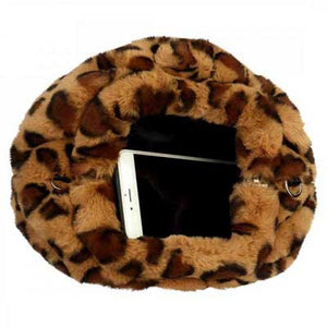 Leopard Print Fur Bag