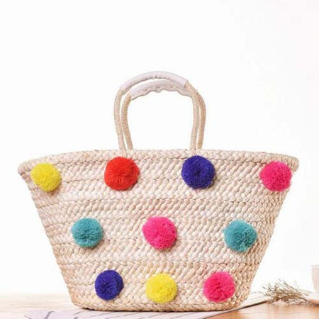 My Pom Pom Beach Bag