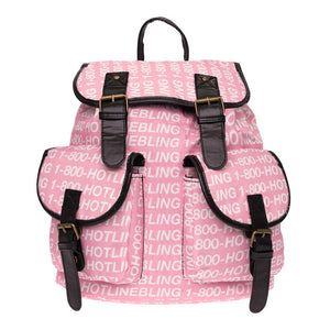 Call Me Now Canvas Backpack