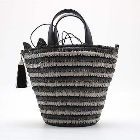 Hanna Straw Tassel Bag