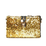Lock My Heart Gold Clutch Purse