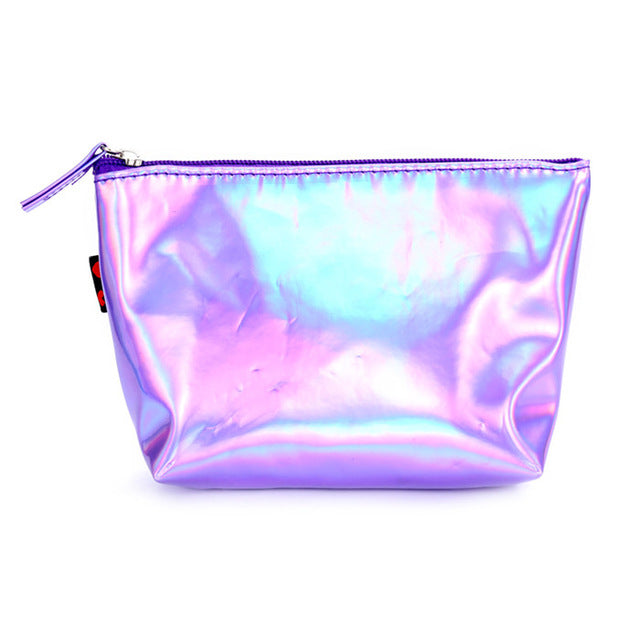 Holographic Travel Makeup Bag