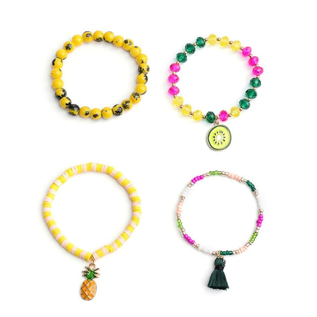 Fruit Charm Bracelets | Go Glam Accessories