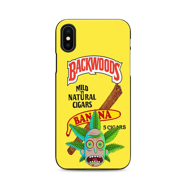 quality design 097d6 c0a17 Funny Banana Rick And Morty Backwoods Phone Case