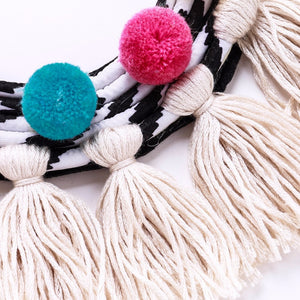 Pom Pom Tassels Necklace