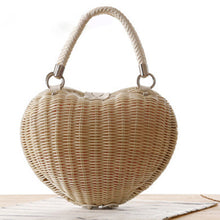 Red Straw Bag