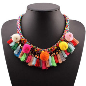 Colorful Tassel Necklace
