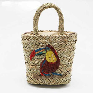 Toucan Straw Bucket Bag