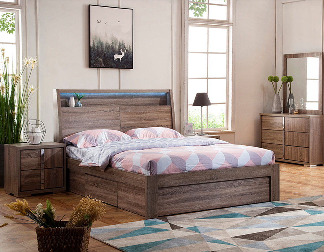 Boston Storage Bed Mocha