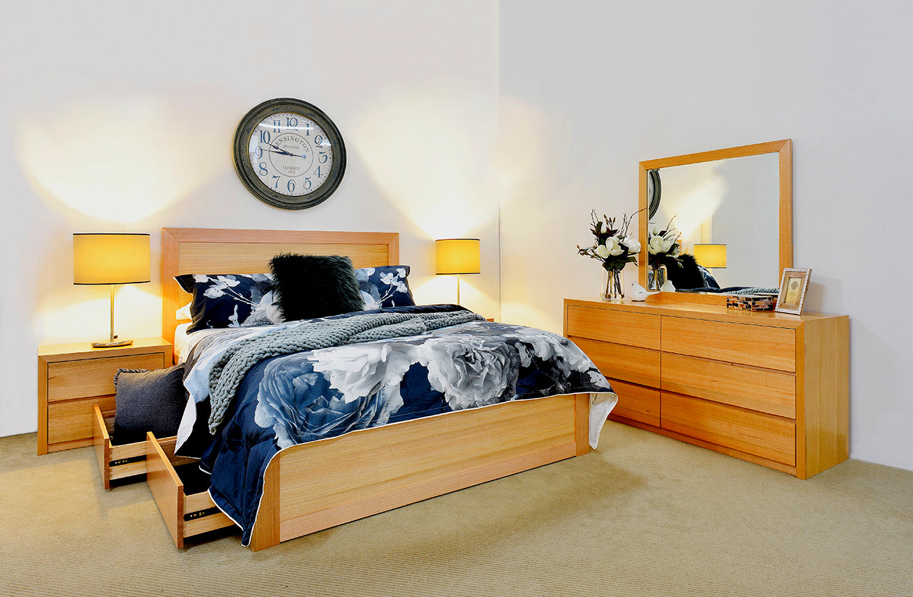 Ascot Drawer Bed Timber