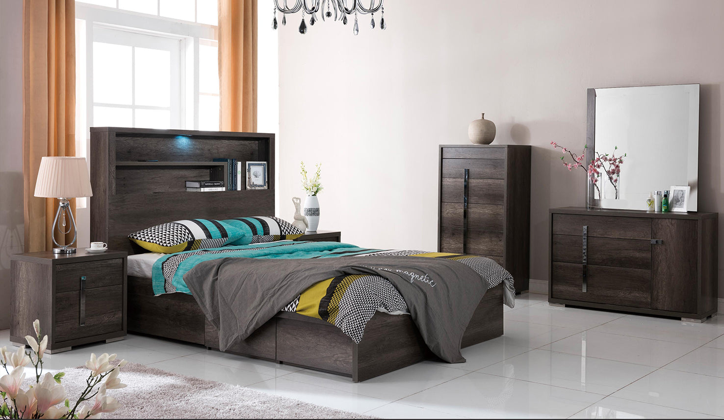 Library Storage Bed Charcoal