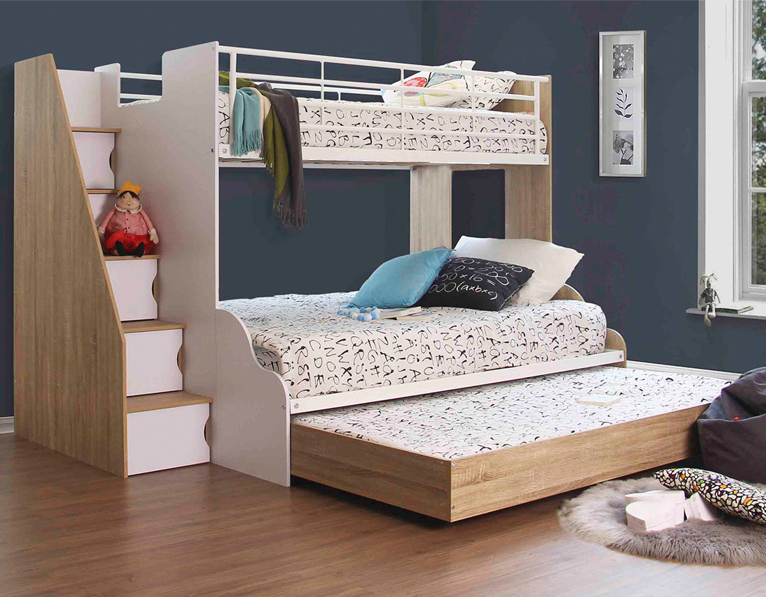 Levin Trio Bunk With Double Trundle