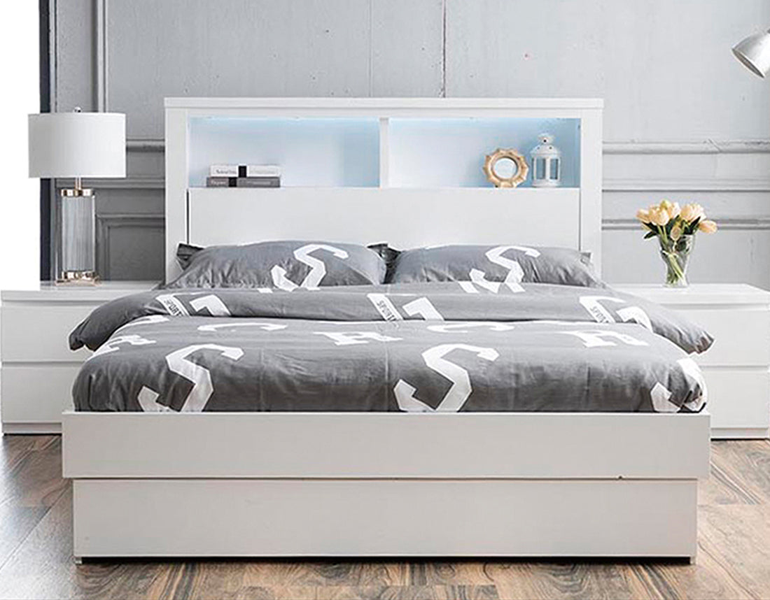 Bali Storage Bed White By Linksea